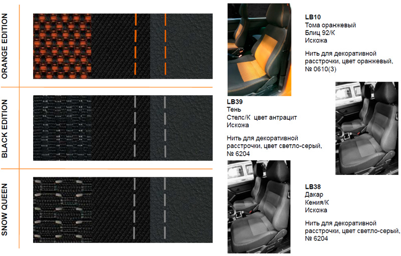Lada 4x4 Orange Edition, Black Edition и Snow Queen